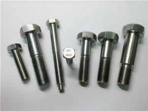 پیچ و مهره های No.25-Incoloy a286 hex 1.4980 a286 fasteners gh2132