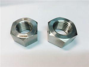 No.76 Duplex 2205 F53 1.4410 S32750 اتصال دهنده های استیل ضدزنگ مهره سنگین