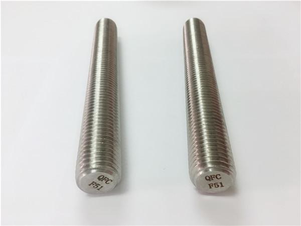 اتصال دهنده های فولادی ضد زنگ duplex2205 / s32205 din975 / din976 میله های نخ f51