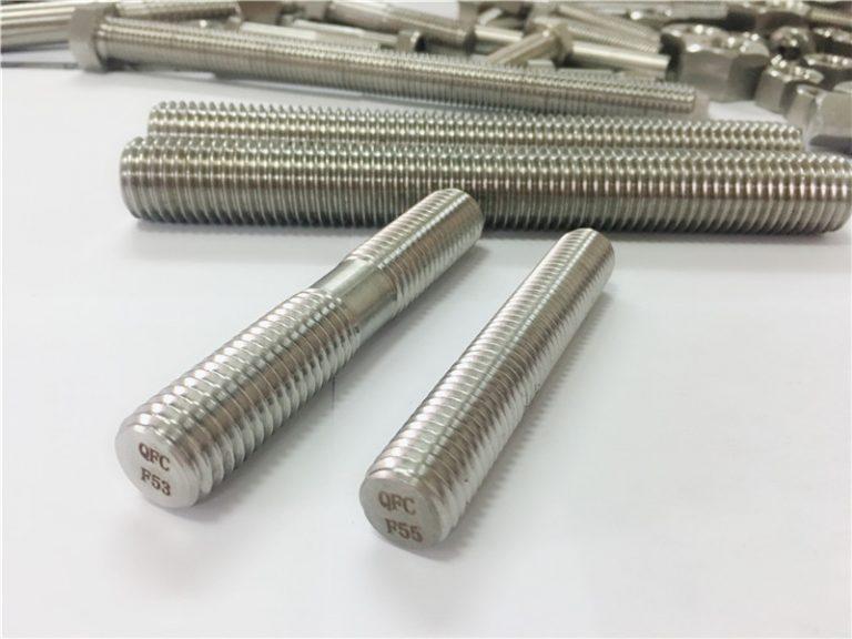 اتصال خودکار فولادی ضد زنگ ماشینکاری سفارشی میله دو طرفه